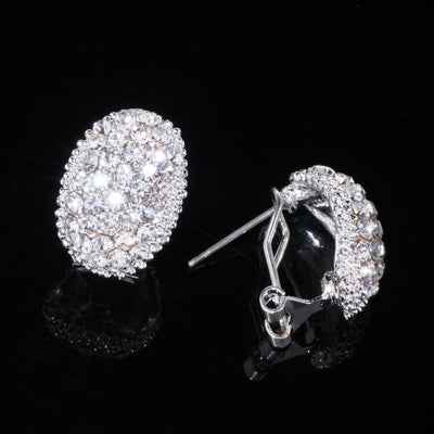 Classic Design Cubic Zirconia Earrings