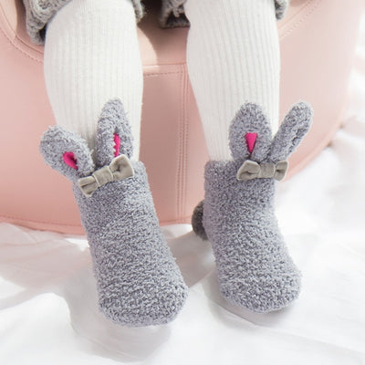 Baby Girl Socks Rabbit Design