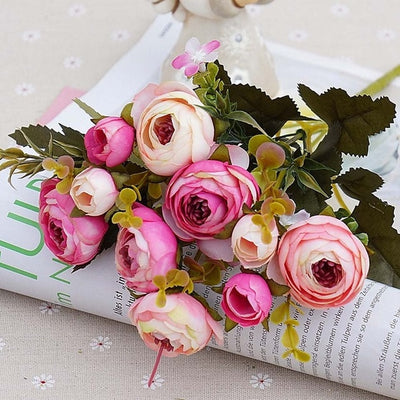 Artificial Roses Flowers Bouquet For Decoration