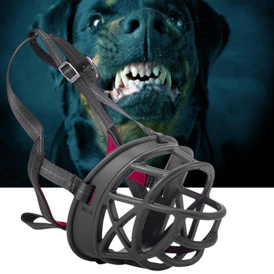 Plastic Muzzle  Anti Bark Bite Mouth Straps For Large Dog