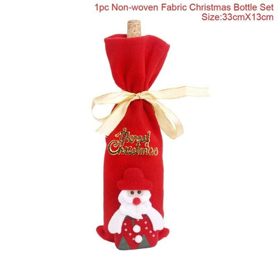 Wine Bottle Cover For Christmas Decorations