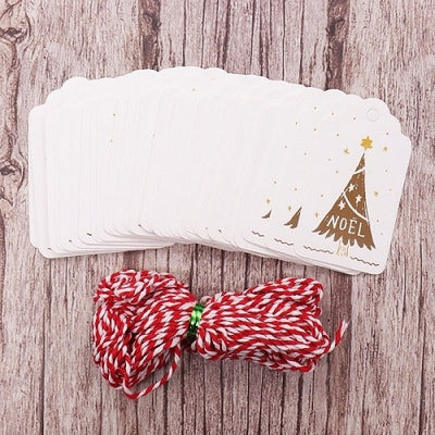 50pcs/lot Small Card Merry Christmas