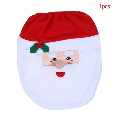 Toilet Seat Cover Christmas Decoration