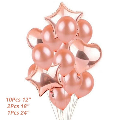 Balloon And Accessories For Rose Gold Theme Party