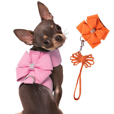 Luxury Rhinestone Vest With Leash for Pet
