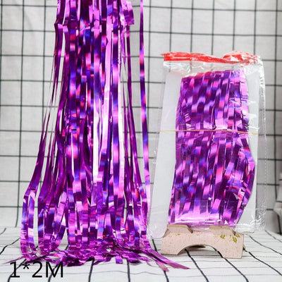Metallic Foil Curtain Backdrop For Party Decoration