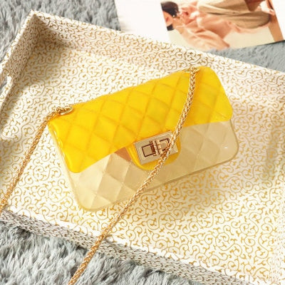 Jelly Crossbody Bag With Chain For Women