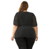 Polka Dot Women Plus Size Blouses