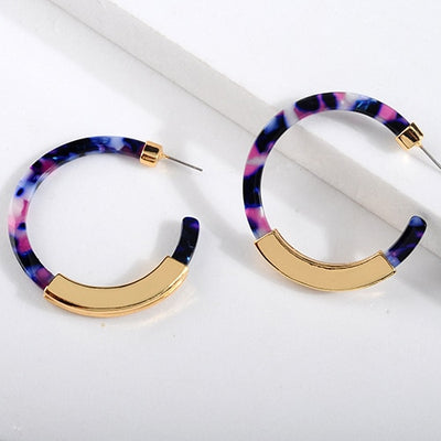 Bohemia Colorful Acrylic Drop Earrings