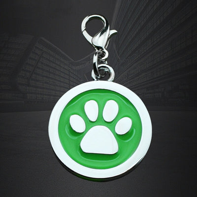 Free Engraved Tag Round Plate Collar for Pet