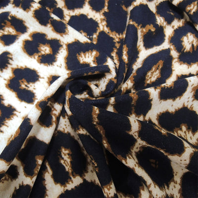 Leopard Pattern Blouses For Women Plus Size