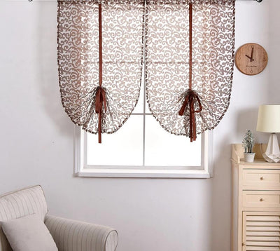 Transparent Fabric Curtains European Style