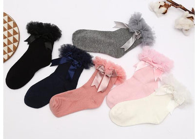 Knot Lace Frilly Baby Socks