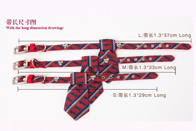 Collar With Necktie For Pet