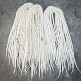 Natural White Dreadlock Extensions