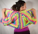 PDF Crochet Pattern, The Hexagon Cardigan