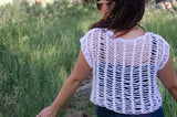 Summer Crochet Mesh Top