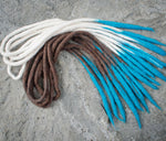 Icy Tip Dreads, Wool Dreadlock Extensions