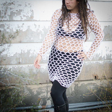 Crochet Fishnet Dress