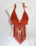 Crochet Bikini Top with Fringe