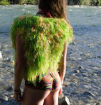 Crochet Shaggy Green Vest