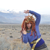 Medusa/Desert Dweller Crochet and Felt Dreadlock Wig