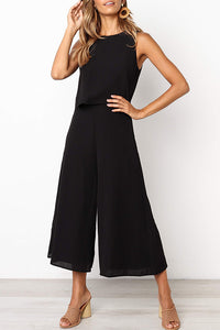 Bomshe Loose Black One-piece Jumpsuit