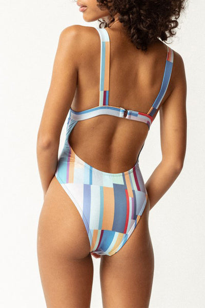 Bomshe Print Multicolor One-piece Swimsuit