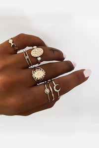 Bomshe 7-piece Gold Ring