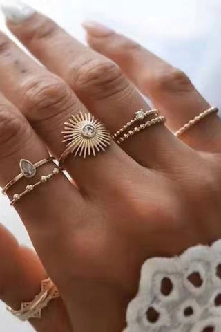 Bomshe 5-piece Gold Ring