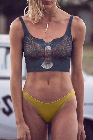 Bomshe Eagle Print Bikini Set(5 Colors)
