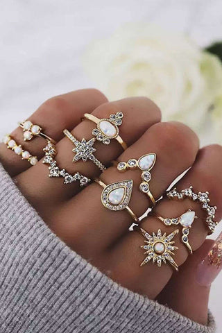 Bomshe 10-piece Gold Ring