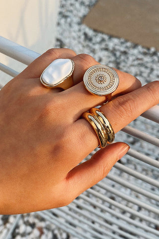 Bomshe 3-piece Gold Ring