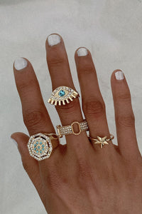 Bomshe 4-piece Gold Ring
