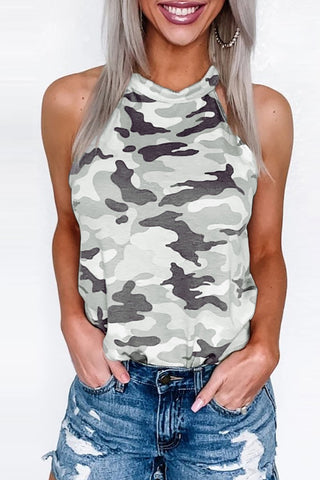 Bomshe Camo Print Grey Camisole(3 Colors)