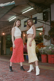 Big Sister Skirt in red blossom - Dear Samfu