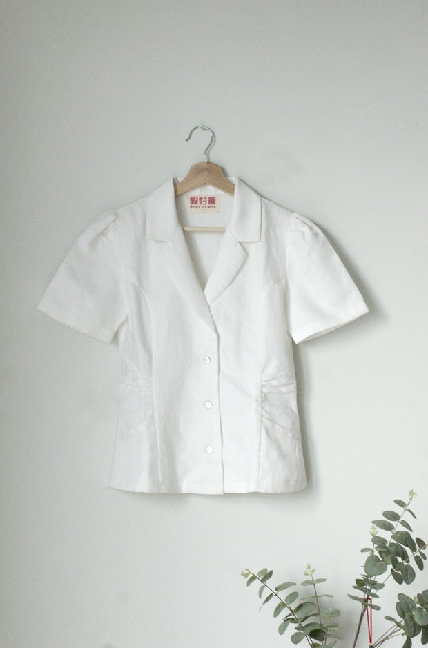 Not Long Ago Shirt in white twill - Dear Samfu