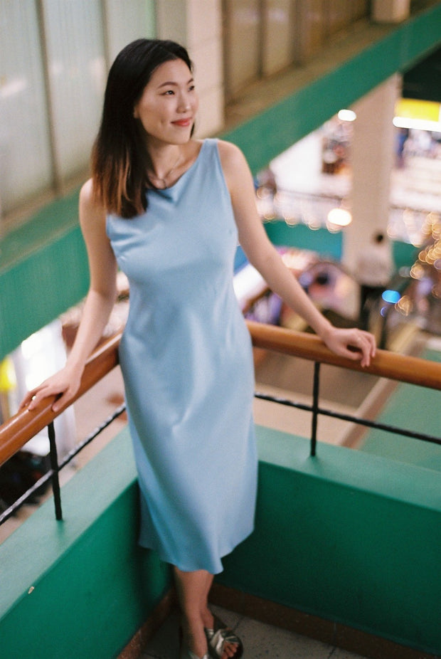 Save the Date dress in sky blue - Dear Samfu