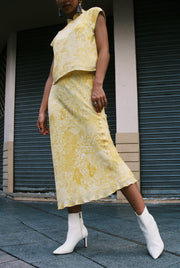 Big Sister Skirt in golden paisley - Dear Samfu