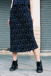 Big Sister Skirt in midnight florets - Dear Samfu