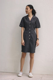 Oh Mama Shirtdress in black dotted - Dear Samfu