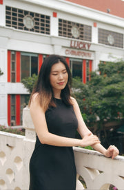 Save the Date dress in black - Dear Samfu