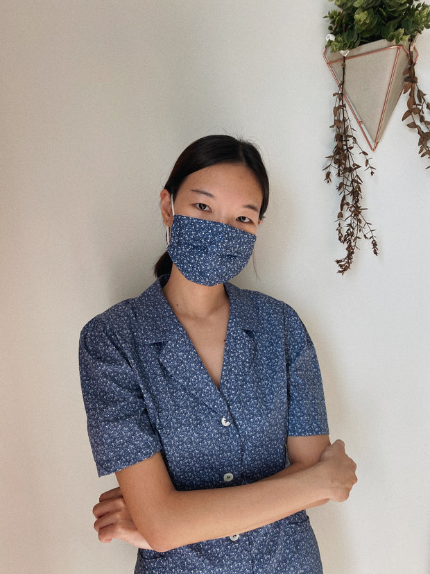 Dear Face Mask in navy ditsy - Dear Samfu