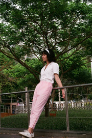 Not Long Ago Pants in pink sorbet - Dear Samfu