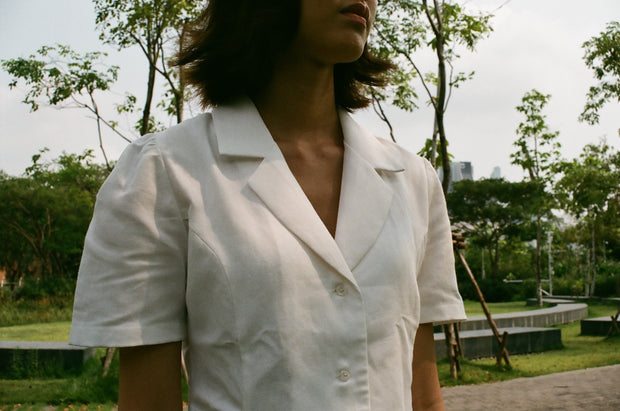 Not Long Ago Shirt in crisp white - Dear Samfu