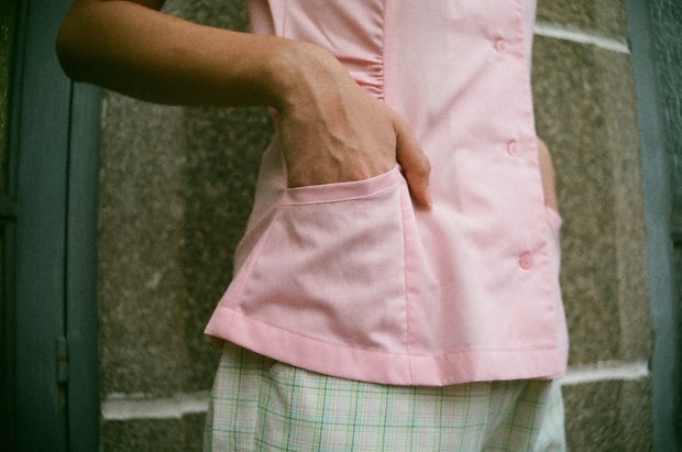 Not Long Ago Shirt in pink sorbet - Dear Samfu