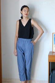 Not Long Ago Pants in navy ditsy - Dear Samfu