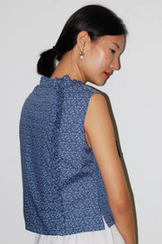 Nowadays Crop Top in navy ditsy - Dear Samfu