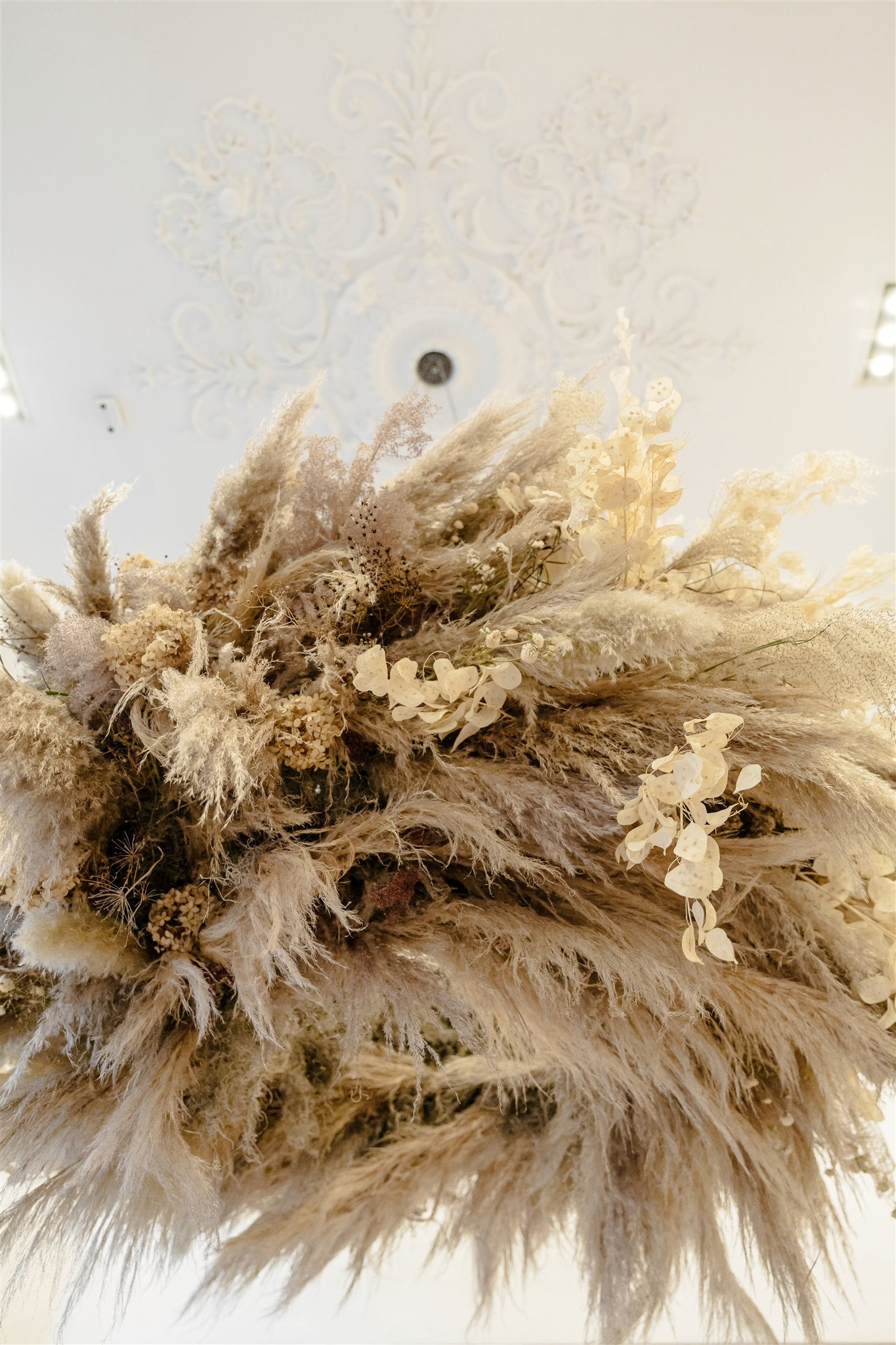 Everlasting Chandelier for Club Monaco Columbus Avenue Re-Launch - Delaine Dacko - Brave Floral