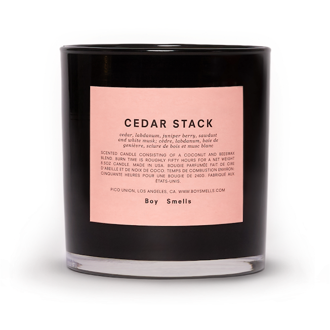 Boy Smells Candle, Cedar Stack